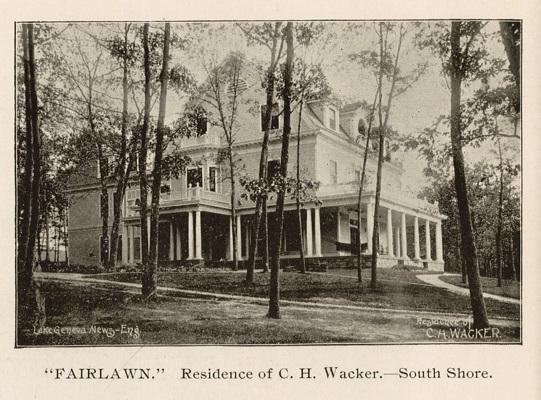 In 1892 Charles Wacker bought 27 acres of the south shore of Geneva Lake and shortly after that began construction on a Southern Colonial style home he would name Fair Lawn. The home still stands today and has been lovingly cared for by its current owners.