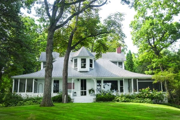 Hazeldore, one of the few original Geneva Lake summer cottages has stood along the south shore between Fontana and Abbey Springs since about 1890.