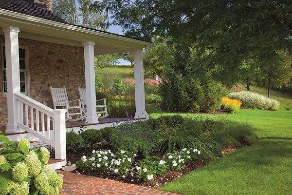 The Humls worked with Paul Swartz nursery and Northwind Perennial Farm in Burlington to complete the extensive landscaping of the farm.