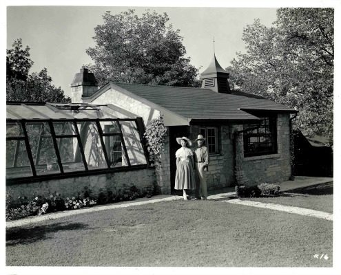 Avid gardeners, the Lunts had a greenhouse built on the grounds of Ten Chimneys.