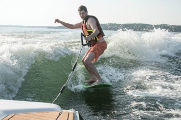 wake surf on Geneva Lake