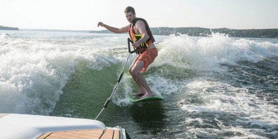 wake surf on Geneva Lake
