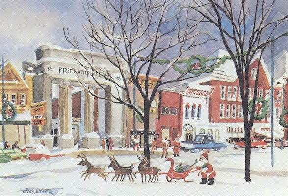 Cecile Johnson, 1958 (Printed as a Christmas card in the 1960s)