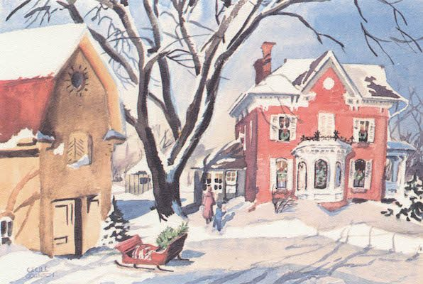 Cecile Johnson 1958 (Printed as a Christmas card in the 1960s)