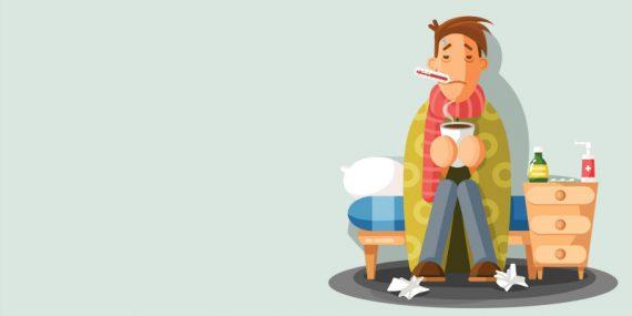 flu sick man