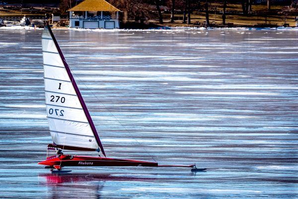 Rick Pappas after racing had been completed for the Boe-Craft Championship Regatta, Friday, Feb. 2, 2018. Pappas would win the Championship the next day.